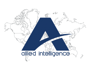 Allied Intelligence Logo with Map